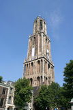 Utrecht Cathedral. Dom tower in Utrecht, highest church tower of the Netherlands royalty free stock images