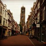 Utrecht. Cathedral, market Street Stock Photo