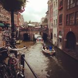 Utrecht. City,  bicycles, market Street Stock Photos