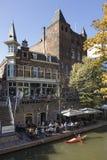 Utrecht, die Niederlande - 27. September 2018: Canoeing auf dem Kanal lizenzfreies stockfoto