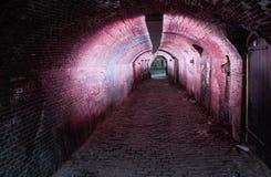 Utrecht encendió el túnel Foto de archivo libre de regalías