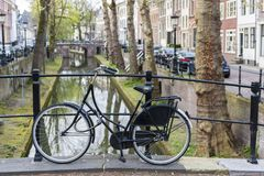 utrecht Fiets kanaal holland stock foto's