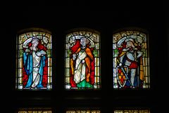 Stained-glass windows In De Haar Castle stock photography