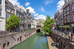 Utrecht kanały i architektura, holandie obraz stock