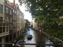 Utrecht-Kanal Stockfotografie