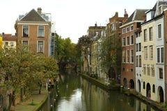 Utrecht kanaler Arkivfoto