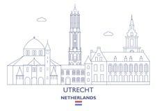 Utrecht City Skyline, Netherlands Royalty Free Stock Photography