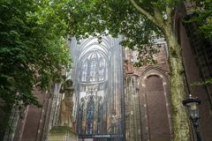 Picture outside the Dom Church in Utrecht showing the interior royalty free stock photo