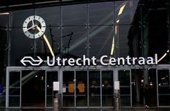 Utrecht, the Netherlands, February 15, 2019: Utrecht central station, Utrecht centraal, main station from dutch railways stock image
