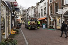 Garbage collection in Utrecht, Netherlands Royalty Free Stock Images