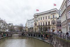 Canal in Utrecht, Netherlands Stock Images