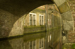 Utrecht (Netherlands) by night Stock Images