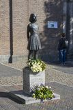Utrecht, Netherlands - September 27, 2018:Statue of Anne Frank a stock image