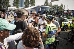 Utrecht, Pays-Bas 4ème de juillet 2015 Temps de Tour de France Image stock