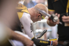 Utrecht, Pays-Bas 4ème de juillet 2015 Temps de Tour de France Images libres de droits