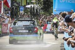 Utrecht, Pays-Bas 4ème de juillet 2015 Temps de Tour de France Photos stock