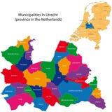 Utrecht - province of the Netherlands. Administrative division of the Netherlands. Map of Utrecht with municipalities Stock Photo
