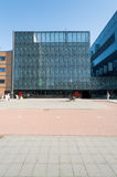 Utrecht University library at the Uithof. With a nice blue sky stock photography