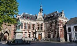 Utrecht Uniwersytecki Hall, Domplein Obrazy Royalty Free