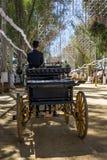 Utrera jarmark jest tradycyjnym festiwalem miasto Utrera fotografia royalty free