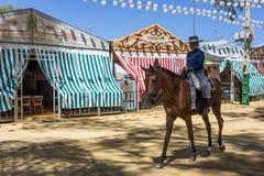 Utrera jarmark jest tradycyjnym festiwalem miasto Utrera zdjęcia stock