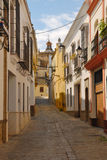 Utrera street. Utrera is a municipality in south-west Spain, in the province of Seville Royalty Free Stock Photography