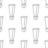 Utropstecken upprepning Abstrakt sömlös modellbakgrund på den vita vektorn stock illustrationer