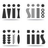 Utropsteckenillustration för design stock illustrationer