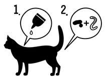 Utrotning av parasit vektor illustrationer