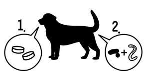 Utrotning av parasit stock illustrationer