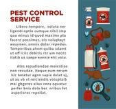 Utrotning eller sanitär affisch för design för lägenhet för vektor för service för desinficering för plågakontroll royaltyfri illustrationer