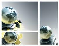 Utrusta den metalliska abstrakt begrepp för jordklotet royaltyfria bilder