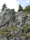 Utrustad alpinist  Royaltyfri Fotografi
