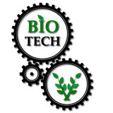 Utrustar bio tech Arkivbild