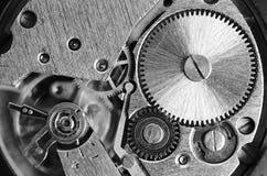 Utrustar gamla mekaniska klockor Arkivfoto