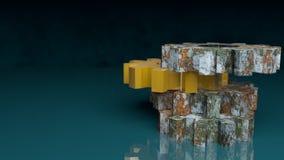 Utrustar kolonnen Arkivbild