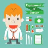 Utrustning av doktorn Royaltyfria Bilder