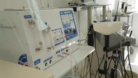 Utrustning av otorhinolaryngologisten arkivfilmer