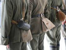 Utrustning av soldater från det första världskriget royaltyfria foton