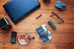Utrustning för arbete Olik objekt och tekniskt svårt Arkivfoto