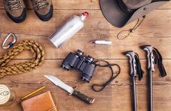 Utrustning för att fotvandra fotografering för bildbyråer
