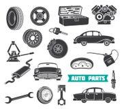 Utrustning för auto reparation stock illustrationer