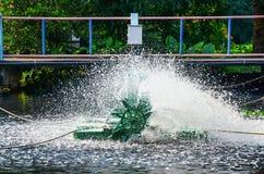Utrustning för avloppsvattenbehandling för påfyllningsozon Arkivfoton