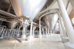 Utrustning för bryggeriet. arkivbild