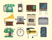 Utrustning för elkraft för hushållsarbete för redskap för teknologi för Retro för tappninghushållanordningar kitchenware för vekt royaltyfri illustrationer