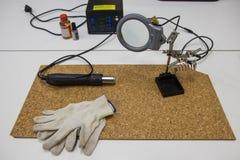 Utrustning för experiment royaltyfri foto