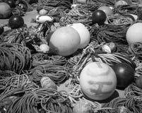 Utrustning för fiskare` s royaltyfri fotografi