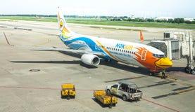 Utrustning för flyg av Nokair Airlane arkivbilder