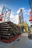 Utrustning för fossila bränslenavslutning på borrandeRIGGEN Royaltyfri Fotografi