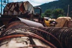 Utrustning för guld- min i Idaho vårar royaltyfri fotografi